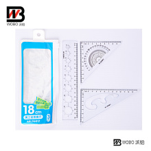 School Plastic Ruler Set for Office Stationery Use