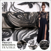 Top quality Different kinds of knitted mesh mirror embroidery fabric