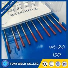 Tig soldadura piezas electrodo tungsteno wt20 varilla de tungsteno 2.4