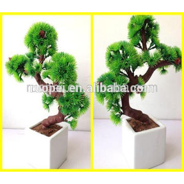 Beautiful Artificial Mini Bonsai Pots Greeting Pine For home and hotel Decoration