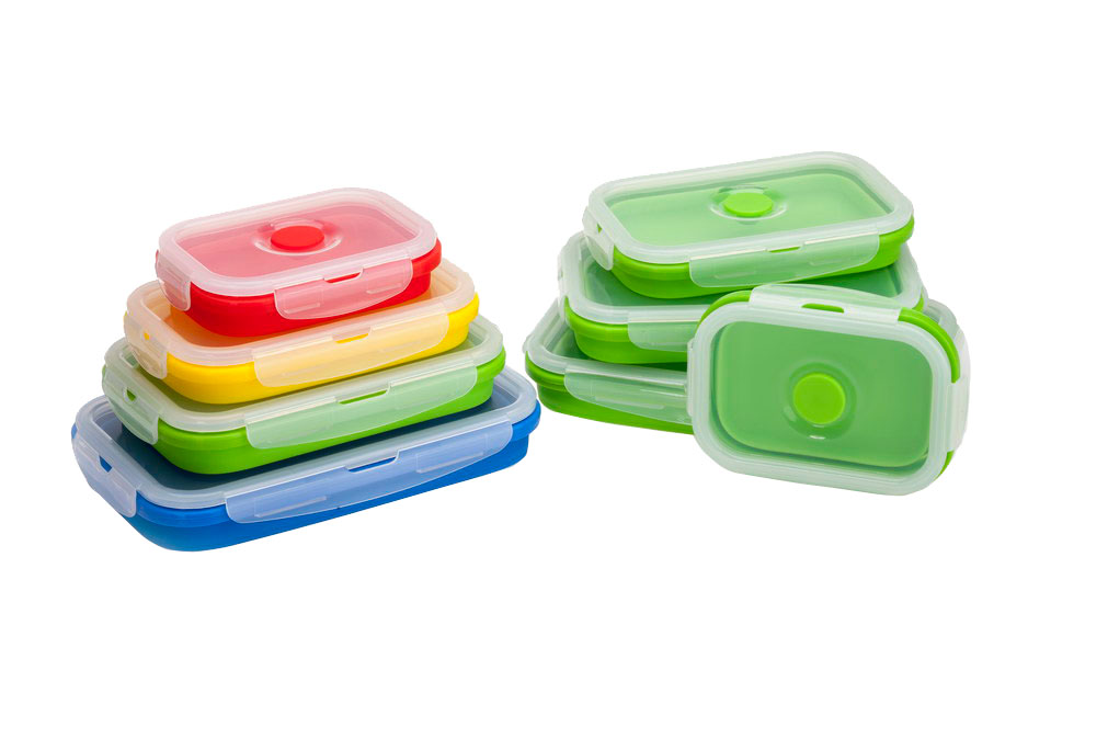 customzied color silicone lunch box set