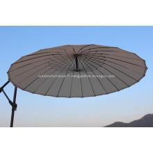 24 fil acier rond côtes Cantilever parapluie