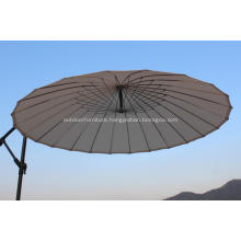 24 Wire Steel Round Ribs Cantilever Umbrella