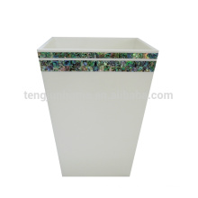 newzealand paua shell mini trash bin for household