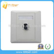 Single Port Duplex SC Fiber Optic Faceplate / Wandplatte