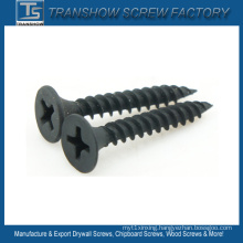 Black Phosphated C1022 Steel Drywall Screw Fine Thread