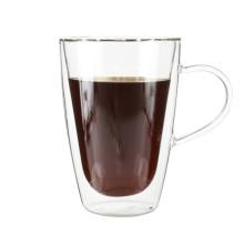 Оптовая Боросиликатного стекла кофе кружка кофе с ручкой 350мл