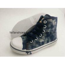 Последние дизайн дети средний-отрежьте ботинки Впрыски ботинок Холстины FF727-2