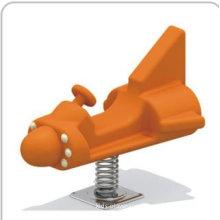 Plastic Cartoon Playground Spring Rider Fighter Plane For Children