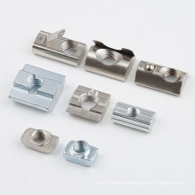 Profile Accessories T-Slot Fastener M8 Carbon Steel Aluminum Spring Loaded Ball