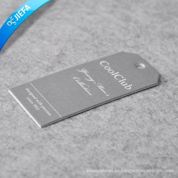 Etiqueta colgante en relieve de marca de fábrica / Impresión de etiquetas de papel
