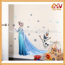 Elsa мультфильм самоклеящиеся наклейки для украшения стен для детской комнаты