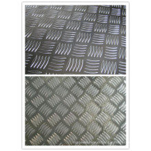 1200mm Width Aluminum Sheet with 5 Bars Pattern