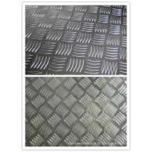 Folha de alumínio da largura de 1200mm com teste padrão de 5 barras