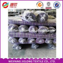 acción al por mayor de la tela de franela de la tela escocesa de la tela de algodón del 100% últimos diseños teñido hilado de la tela de la franela