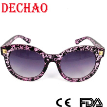 2015 updated designer women sunglasses with black spots especially for vogue fashion