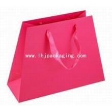 Nueva bolsa de papel irregular del diseño con la manija de la cinta
