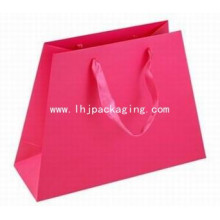 New Design Irregular Paper Bag with Ribbon Handle