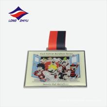 Prata de prata com filmes de desenhos animados medalha barata com impressão offset