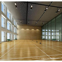 Role o assoalho interno dos esportes do PVC / assoalho do basquetebol / superfície de madeira certificado de Fiba da esteira