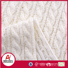 Hot selling acrylic gold blocking chunky knit blanket