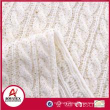Hot selling acrylic gold blocking chunky knit blanket