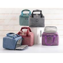 Portable Fashion Aluminum Foil Oxford Custom Lunch Cooler Bag Lunchbag