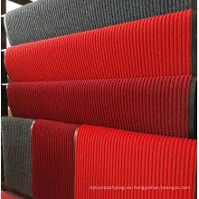 Alfombra de piso de poliéster no tejido con superficie rayada flexible