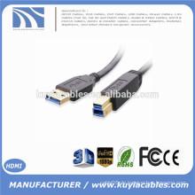 Super Geschwindigkeit USB 3.0 AM / BM Ein Mann zu B Mann 5Gbps vergoldeten Stecker Druckerkabel
