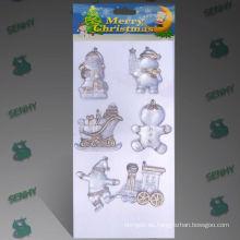 10 cm claro plástico decoración de Navidad santa claus sleigh