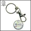 Promotional shopping trolley coin keychains