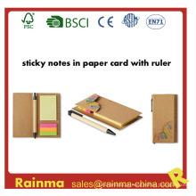 Recolhido Sticky Note Memo Pad com marcador de página