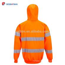 Sudadera con capucha Hi Vis duradera y versátil Camisa reflectante de trabajo de seguridad clase 3 Sudaderas con capucha