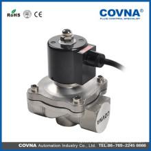 Fuente profesional 2 vías de latón de acero inoxidable 1/4 pulgadas de agua de aire de aceite de agua caliente solenoide válvula