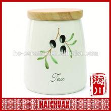 Ceramic Storage Jar Sello de goma
