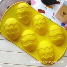 6 Cavities Egg-Shaped Silicone Mould for DIY Soap