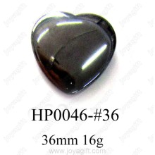 Hematite Heart Pendant 36MM
