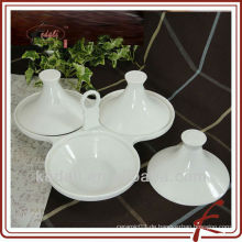 Robuste Keramik Serveware mit Bambus-Tablett