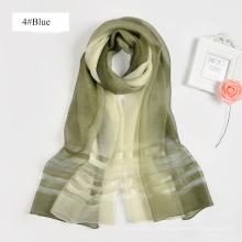 Moda impressão digital china fez seda projeto coreano 100% lenço de seda dubai
