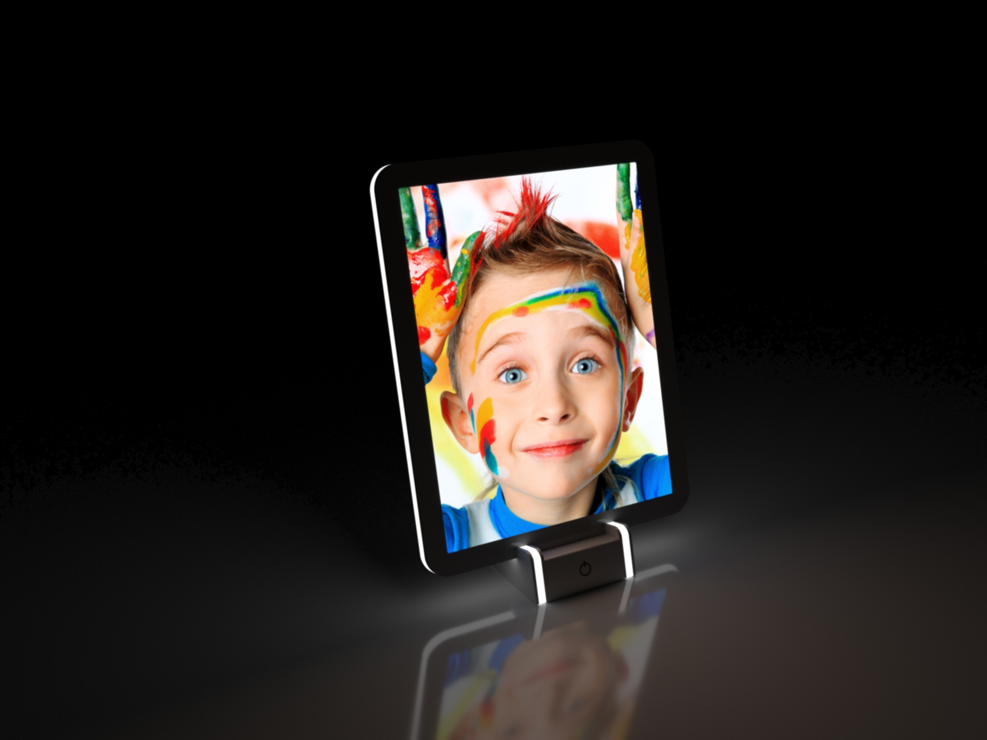 led mirror picture frame
