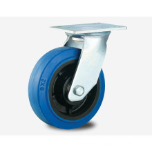 H14 Heavy Duty Type Double Ball Bearing Blue High-Elascity Rubber Industry Caster