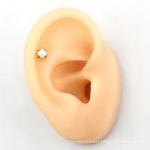 ASTM F136 Ear Helix Earring Titanium Bezel Setting Multi Pearl Gift Wedding Trendy WOMEN'S Party Unisex Children's Engagement