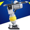 Compactador de placa vibratória elétrica para construção de estradas