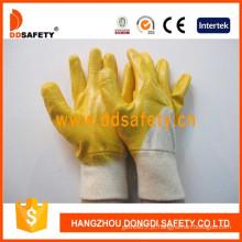 Luvas de segurança de algodão revestidas com nitrilo (DCN303)