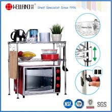 Ajustable de acero Mini cocina alambre estante estante para alimentos