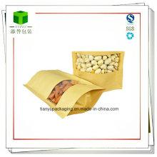 Zipper Kraft Paper Bags with Windows