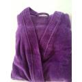 Purple Velour Terry Adult Kimono Bathrobe