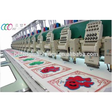 12 Köpfe gemischte Chenille und flache Stickmaschine mit Servomotor