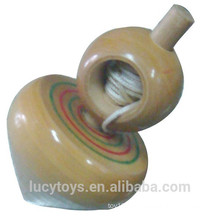 for all years wooden stayguy spinning top toy