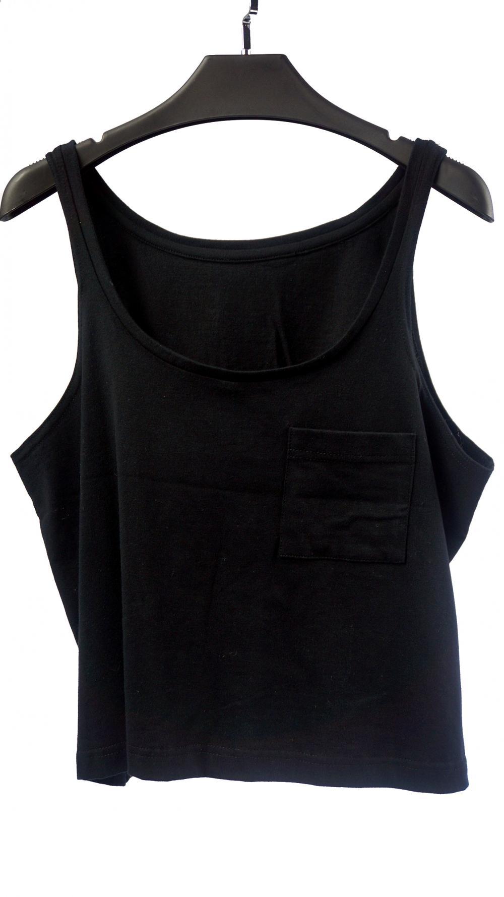 Women's Black Round Neckline Vest